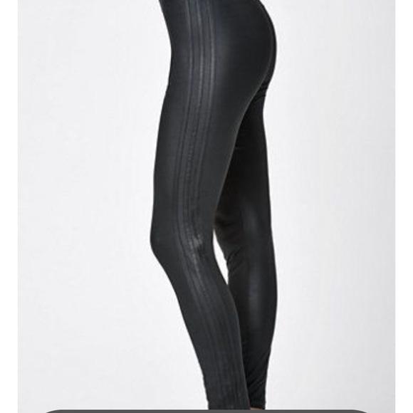 94842caa20362a adidas Pants | Nwt Faux Leather Leggings | Poshmark